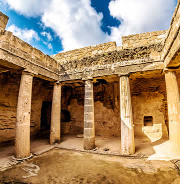 UNESCO World Heritage Site, Tomb of the Kings in Cyprus