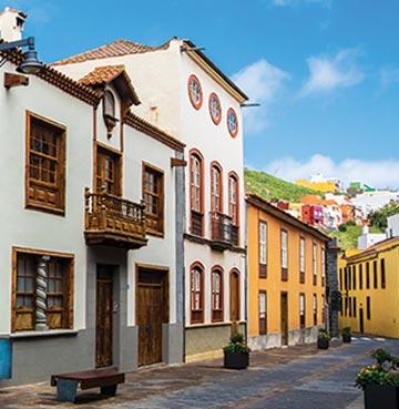 View of town in Tenerife, Spain