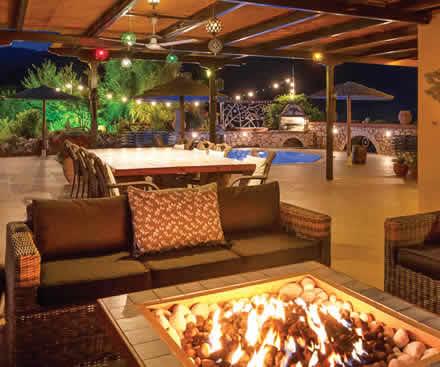 Outdoor living at a Luxury villa