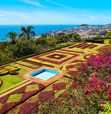 The colourful Monte Gardens of Funchal, Madeira