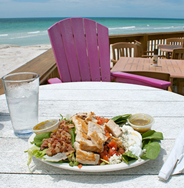A beautiful salad by the beach in Orlando, Florida