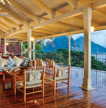 View from Calypso Villa's balcony, St. Lucia