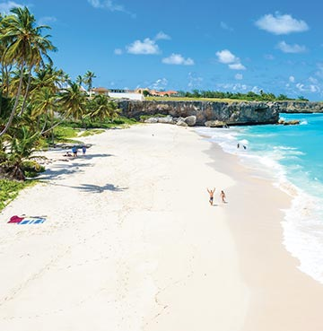 View of a beach in Barbados