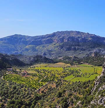 Serra de Tramuntana mountain range on Mallorca, the Balearic Islands