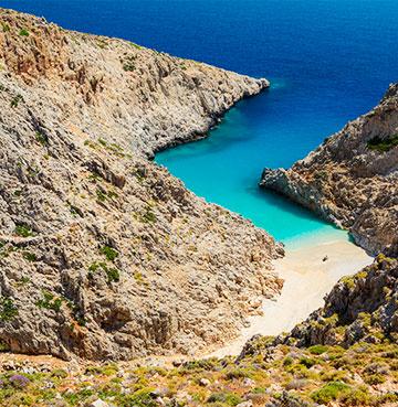 View of a cove in Crete