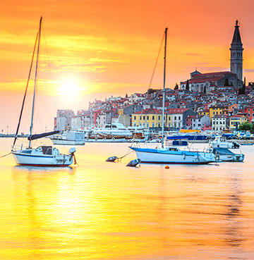 View of the port in Istria