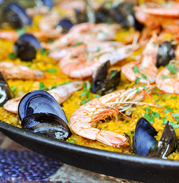 Traditionally made Paella in Mallorca