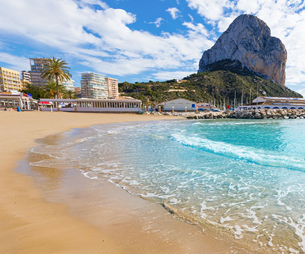 Calpe Beach with Peñón de Ifach in the distance, Costa Blanca