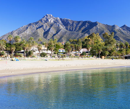 A beach in Marbella, Costa del Sol