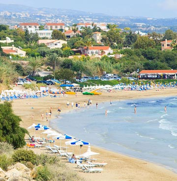 View of beach in Cyprus