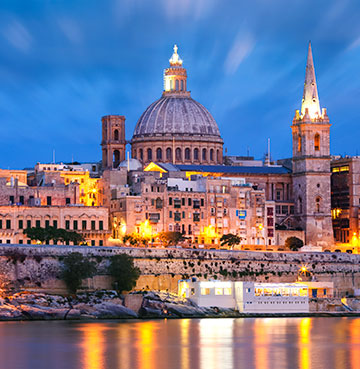 View of Valletta in Malta