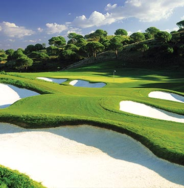 View of a golf course in the Algarve, Portugal
