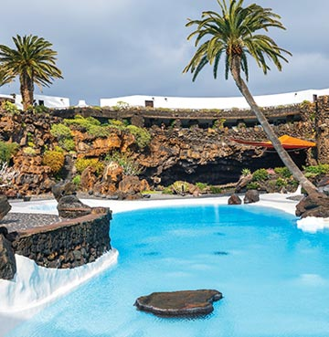 View of Jameos Agua in Lanzarote