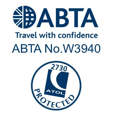 James Villa Holidays' ABTA and ATOL logos