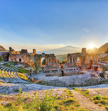 Ancient Greek theatre in Taormina, Sicily