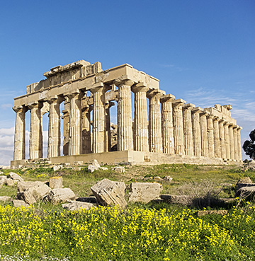 Ancient temple in Selinunte, Sicily