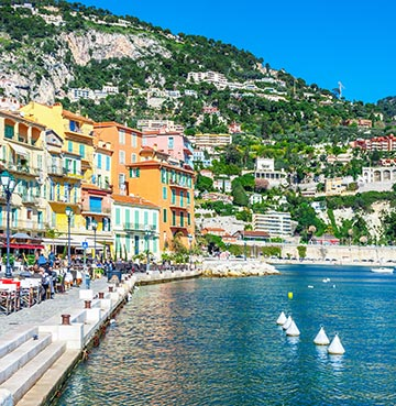 Villefranche-sur-Me in the Côte d'Azur, France