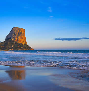 The Penyal D'Ifac rock of the Costa Blanca