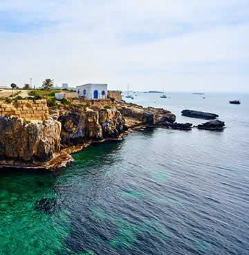 The rugged coastline of Tabarca Island