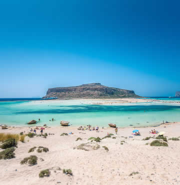 Turquoise waters and exotic sands of Balos Beach, Crete