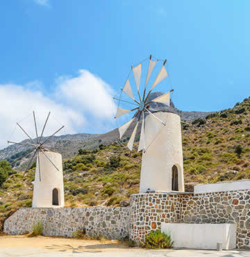 Traditional windmills at the Lasithi Plateau