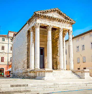 The Temple of Augustus in Pula, Croatia