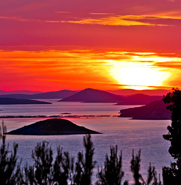 The Kornati Islands at night, Croatia