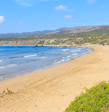 View of Lara Beach in Cyprus
