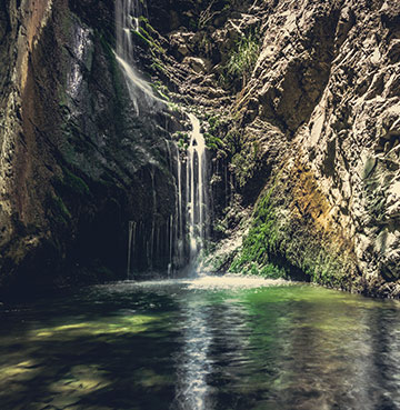 Waterfall in Troodos Mountains, Cyprus