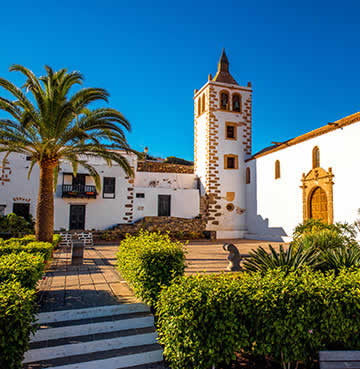 The town square of Betancuria, Fuerteventura