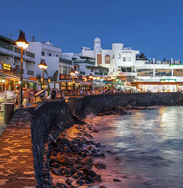 Playa Blanca, Lanzarote at night