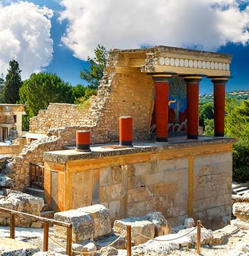 View of Minoan Palaces in Crete