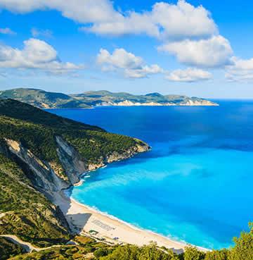 World-famous Myrtos Beach