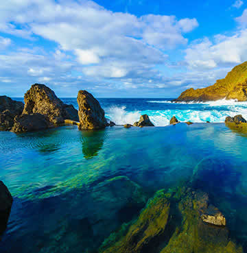 Natural lava formed pools at Porto Moniz