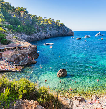 The idyllic beach of Cala Deia, Mallorca