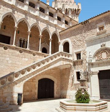 Impressive architecture of Pueblo Espanol