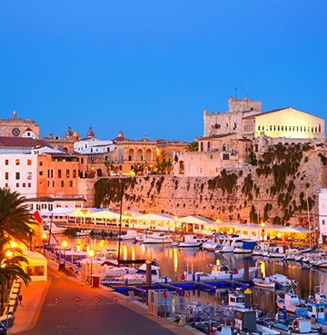 View of Ciutadella Port in Menorca