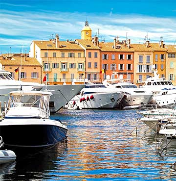 Yachts in the harbour of St. Tropez