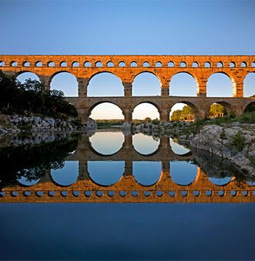 Pont du Gard Roman bridge in the South of France