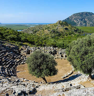 The 5000 person amphitheatre at the ancient city of Kaunos