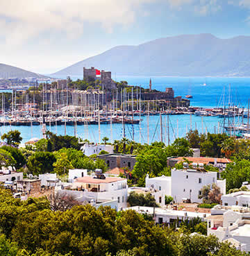 The beautiful harbour of Bodrum