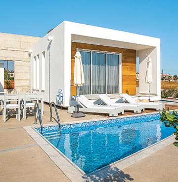 View of Villa Sky in Paphos