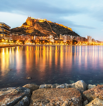 View of Costa Blanca, Spain