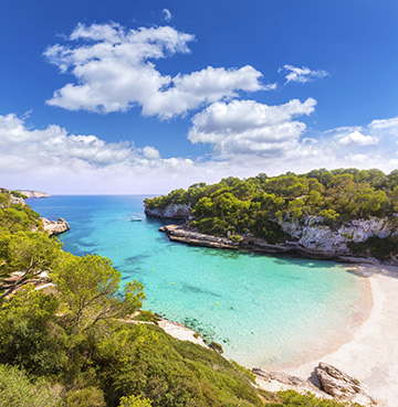 View of Cala Llombards beach, Mallorca