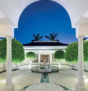 Courtyard view of Villa Andalucia, Costa del Sol