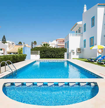 A child-friendly villa with private pool, including a small, shallow section for young children