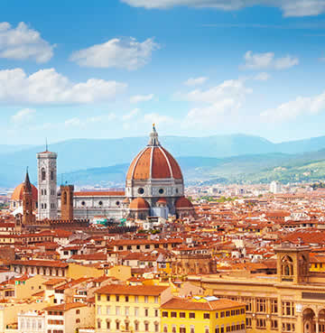 The iconic Duomo and skyline in Florence