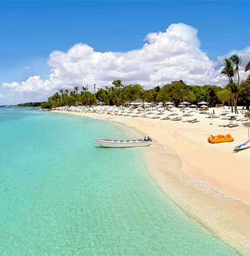 Powder-sand private beach at Casa de Campo Resort