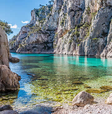Azure waters of the Calanques National Park