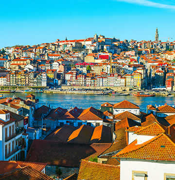 Colourful city of Porto, Portugal